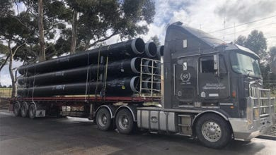 Photo of Pipes delivered at Victorian crossing removal